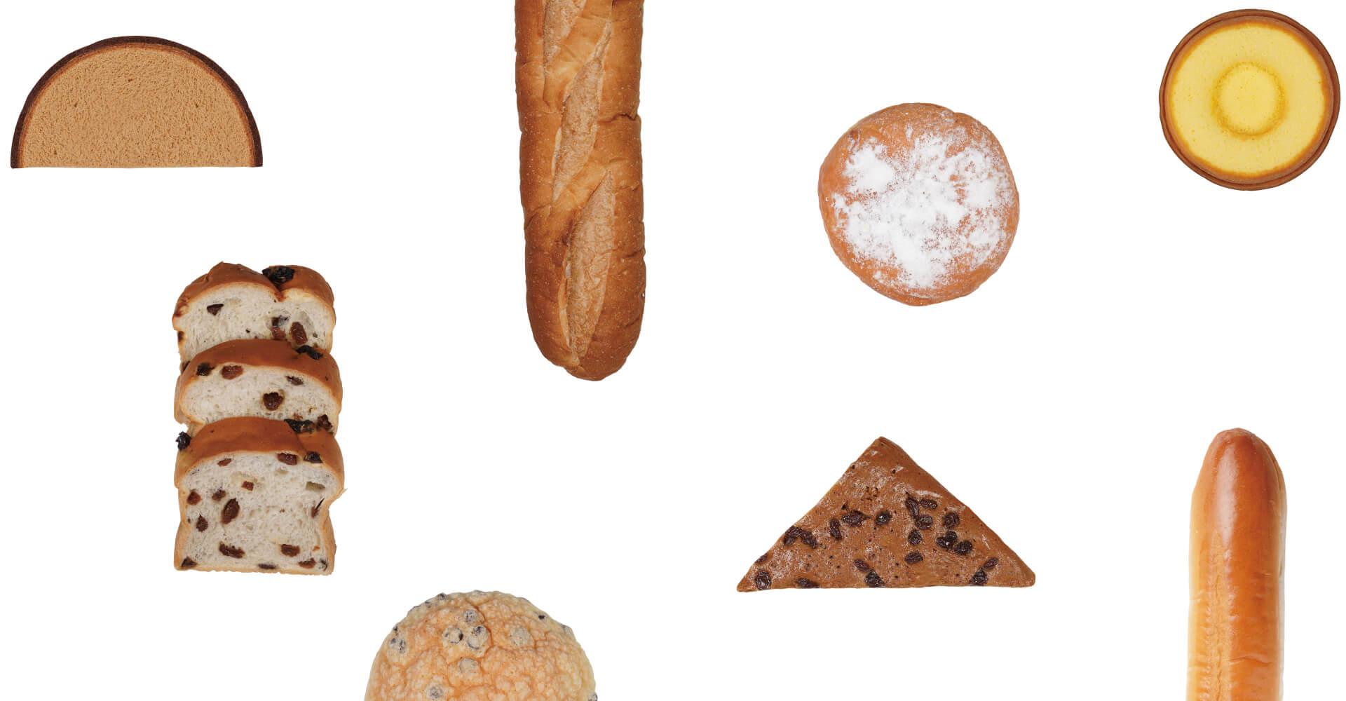 流れるパン